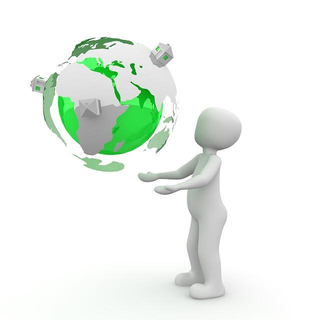 Imagem estilizada de uma pessoa suportanto um globo terrestre, ilustrando a ideia de sustentabilidade
