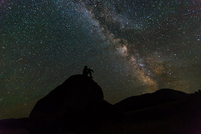 Imagem da Via Láctea, ilustrando a pluralidade dos mundos habitados