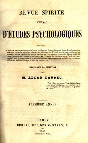 Revista Espírita - 1 de janeiro de 1858