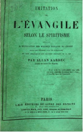 Capa da edição de 19864 da Imitação do Evangelho Segundo o Espiritismo