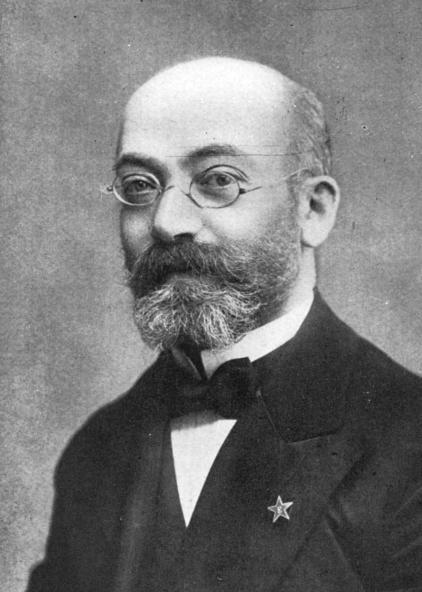 Foto do Dr. Lázaro Luís Zamenhof, criador do Esperanto. A foto é dos registros do quarto congresso de Esperanto.