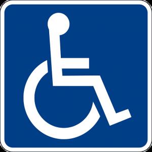 Imagem do simbolo utilizado para identificar recursos de acessibilidade